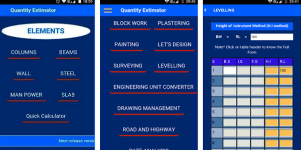 Civil Quantity Estimator - Estimating App