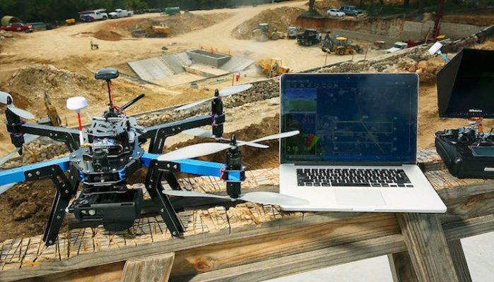 The Activities Of Drones Are Booming In The Construction Site
