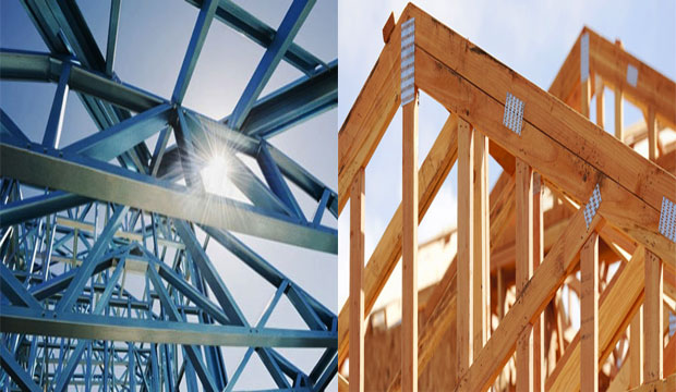 Differences Between Steel Truss And Wooden Truss