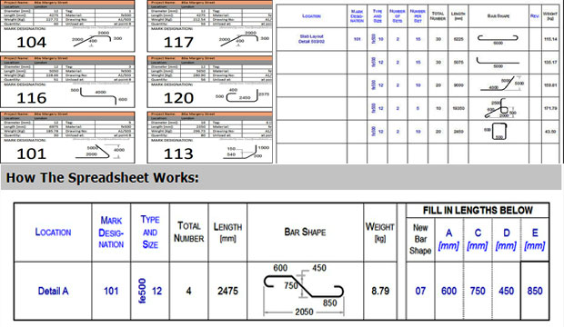 Bar Bending Schedule Spreadsheet – Free Download