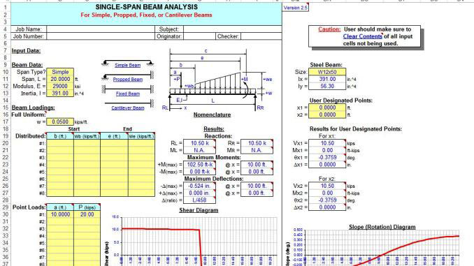 Cantilever Beam Calculation Xls - New Images Beam