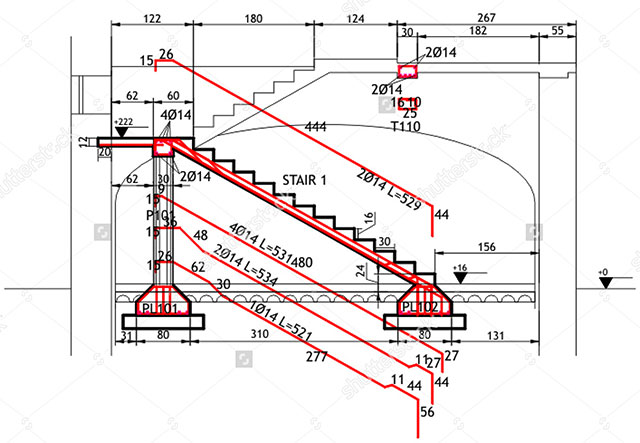 Download Design Of Reinforced Concrete Staircase Spreadsheet