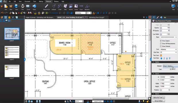 Construction Estimating and Take-off Method with Bluebeam Revu Software