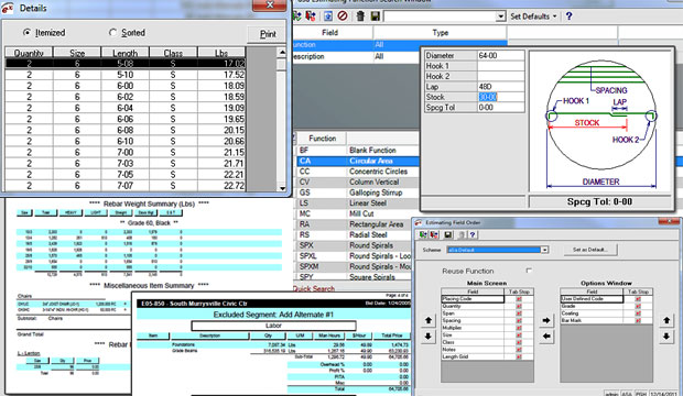 Features Of ASA Reinforcement Steel Estimation Software