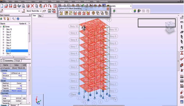Tutorial on 3D Reinforced Concrete Building in Autodesk Robot Structural Analysis Professional Software