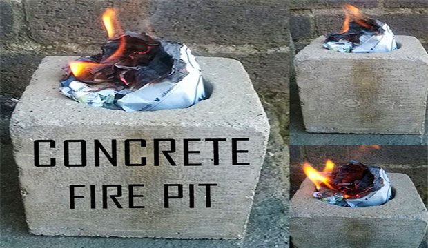 How to create a concrete fire pit