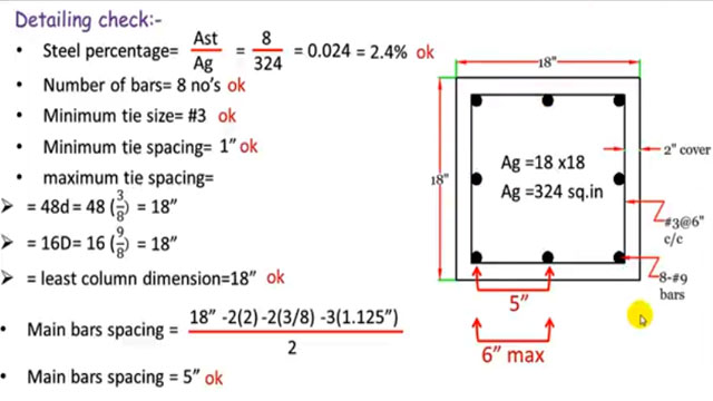 Design of a Square reinforced concrete column