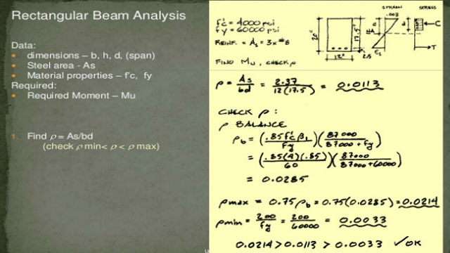 rectangular beam analysis