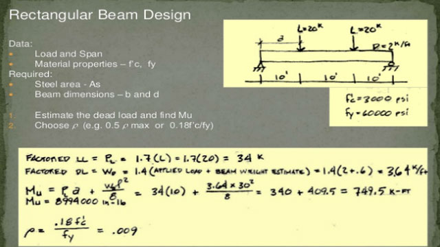 rectangular beam design